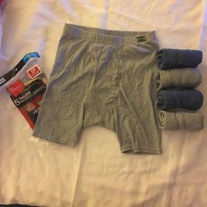 5 tagless boxer briefs Hanes comfortsoft waistband